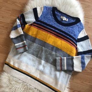 Ann Taylor loft striped crew neck sweater